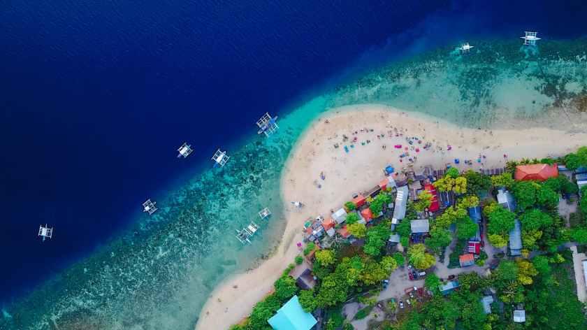 aerial asia beach bird s eye view